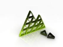 Gebroken groene piramide Stock Foto