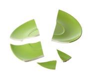 Gebroken groene plaat Royalty-vrije Stock Afbeeldingen