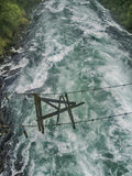 Gebroken hangende brug Stock Afbeelding