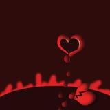 Gebroken hart Stock Afbeeldingen