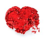 Gebroken hart Stock Afbeelding