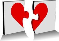 Gebroken hart Stock Fotografie