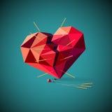 Gebroken hart met acupunctuurnaalden royalty-vrije stock afbeeldingen