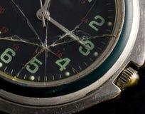 Gebroken horloge Stock Foto's