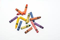 Gebroken kleurpotloden Royalty-vrije Stock Foto's