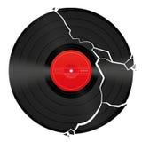 Gebroken Leeg Vinylverslag Stock Afbeelding