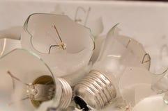 Gebroken lightbulbs Stock Foto