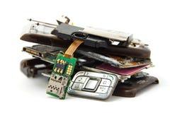 Gebroken mobiel Stock Foto's