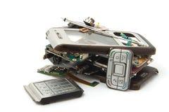 Gebroken mobiel Stock Foto