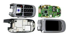 Gebroken mobiele telefoon stock afbeelding