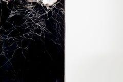 Gebroken mobiele telefoon Stock Foto's