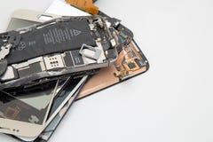 Gebroken mobiele telefoon Royalty-vrije Stock Afbeelding