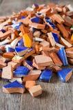 Gebroken mozaïektegels Royalty-vrije Stock Afbeeldingen