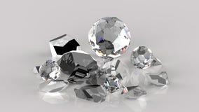 gebroken orb kristallen vector illustratie