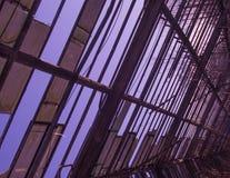 Gebroken oude dakachtergrond Royalty-vrije Stock Foto