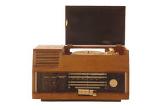 Gebroken oude retro radio Royalty-vrije Stock Fotografie