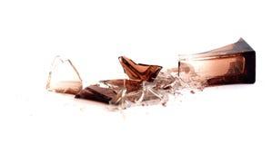 Gebroken parfumfles Royalty-vrije Stock Foto's