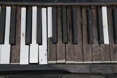 Gebroken piano Stock Fotografie