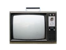 Gebroken retro TV royalty-vrije stock foto