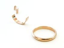 Gebroken ring royalty-vrije stock fotografie