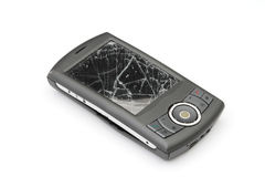 Gebroken smartphone Stock Foto