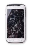 Gebroken smartphone Stock Afbeeldingen