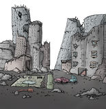 Gebroken stad stock illustratie