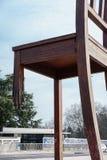 Gebroken stoel in Genève Stock Foto's