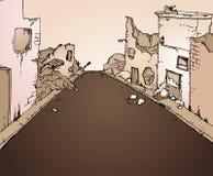 Gebroken straat vector illustratie