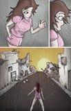 Gebroken straatillustratie stock illustratie