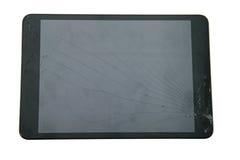 Gebroken tabletcomputer Royalty-vrije Stock Fotografie