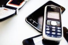Gebroken telefoons Stock Foto