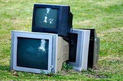 Gebroken televisie stock foto's