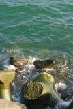 Gebroken tetrapods Stock Foto