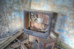 Gebroken TV Royalty-vrije Stock Foto