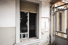 Gebroken venster Royalty-vrije Stock Afbeeldingen