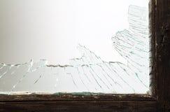 Gebroken vensterglas stock afbeelding