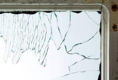 Gebroken vensterglas stock foto's