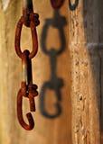 Gebroken verbinding in een ketting Stock Afbeelding