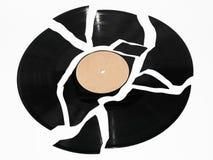 Gebroken vinylverslag Royalty-vrije Stock Afbeeldingen
