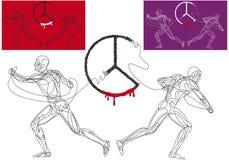 Gebroken vrede royalty-vrije stock afbeelding