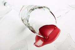 Gebroken wijnglas Royalty-vrije Stock Foto