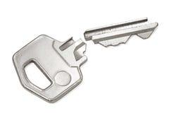 Gebroken zilveren sleutel Stock Foto