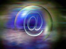 Gebruik @ op Internet stock foto's