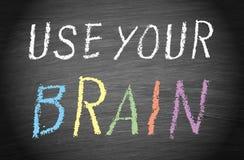 Gebruik uw hersenen royalty-vrije stock foto's