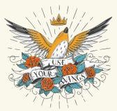 Gebruik Uw Vleugels royalty-vrije illustratie