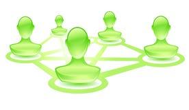 Gebruiker-groen-netwerk Stock Foto's