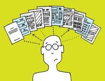 Gebruiker het leiden documenten Royalty-vrije Stock Foto