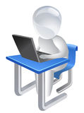 Gebruiker op Laptop Royalty-vrije Stock Foto