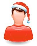 Gebruiker in santa GLB stock illustratie